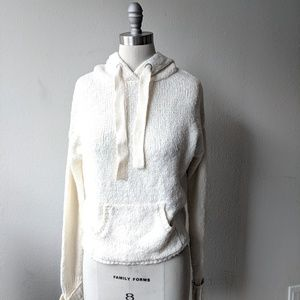 White Creamy Super Soft Hooded Sweater